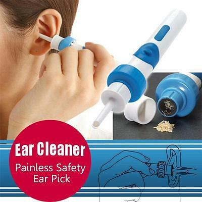 Useful Painless Cordless Electric EAR PICK Wax Remover Vacuum with Retail Box US