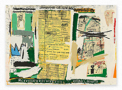 Jean-Michel Basquiat  Jawbone of an Ass  72x100 cmSTAMPA TELA CANVAS PRINT TOILE