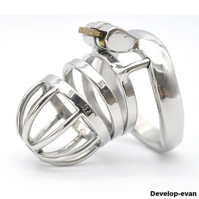 Latest Design Male Chastity Devices Stainless Steel new Lock Small Cage A275