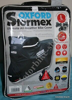 Oxford Stormex All Weather Bike Cover size L Large CV332