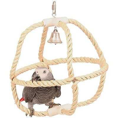 Planet Sisal Swinger Parrot Toy Ideal For Amazon African Grey Size Parrots