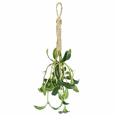 Artificial Silk Christmas Mistletoe bunch 35cm (14 inch) Kissing plant