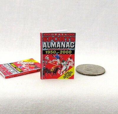 SPORTS ALMANAC 1:12 Scale Dollhouse Miniature Book Back to the Future