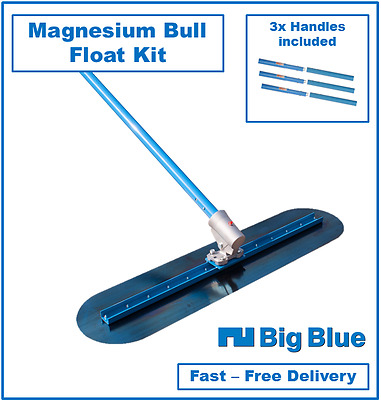 1200mm Big Blue Concrete Easy Float Kit including 3 Handles - Cement Trowel Kit