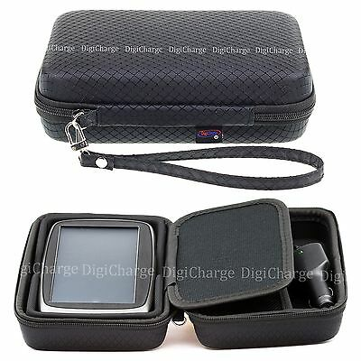 Black Hard Carry Case For TomTom Go 6200 620 Via & Start 62 With Storage