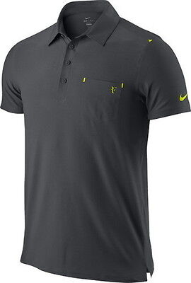 Nike Federer RF Smash Clay Tennis Polo Shirt French Open 2012 New Size S