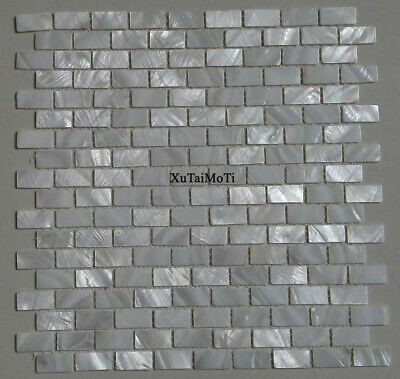 11PCS White brick shell mosaic mother of pearl kitchen bathroom shower wall tile