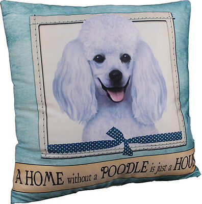Poodle Pillow 16×16 Polyester White