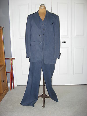 1970's Vintage 3-piece Men's Cotton Denim Dress Suit