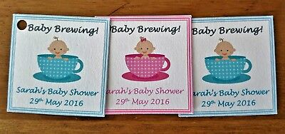 Personalised Baby Shower Favour Tags / Labels ** Gift Tags  ** Thank You Tags