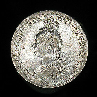 Great Britain 1891 3 pence silver