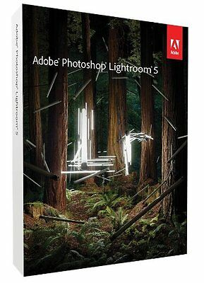 Adobe Photoshop Lightroom 5 Windows Pc / Mac Os Full Retail Dvd Pack New Sealed