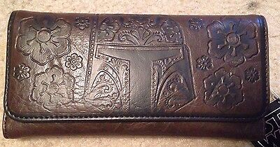 Disney  Wallet by Loungefly Brown Leather Star Wars Bobafett New