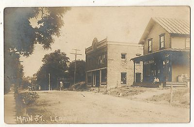 RPPC Street View LE RAYSVILLE PA Vintage Bradford County Real Photo Postcard 1