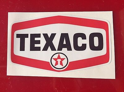 "Yeti Tumbler Texaco Super High Gloss Outdoor 4""x2.5"" Decal Sticker V2"