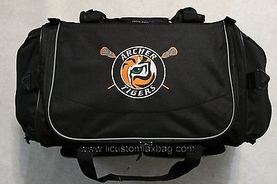 Personalized Lax Equipment Gear Bag Free Custom Embroidery