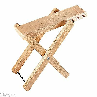 Neewer Solid Well-crafted Wooden Guitar Footstool Foot Rest