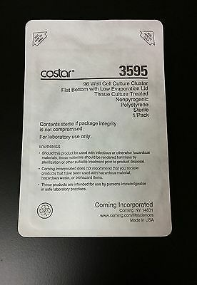Corning Costar 96-Well Clear Flat Bottom Sterile TC Microplanes 3595, 30/case