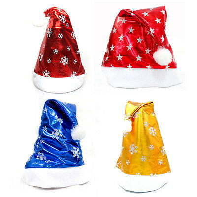 Adults Kids Christmas Snowflake Stars Hat Festival Xmas Party Costume Accessory