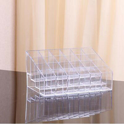 1x Makeup Lipstick Cosmetic Storage Display Stand Rack Holder Organizer 24 grids
