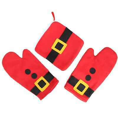 3pcs/Set Thermal Gloves Christmas Kitchen Decor Home Microwave Oven Dedicated