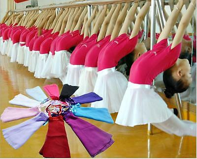 1pc Adult Women Chiffon Ballet Leotard Tutu Wrap Scarf Skirt Dance Dress 9 Color