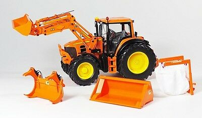 Wiking - 077342 John Deere 7430 With Front Loader Precision Model 1:32 Scale