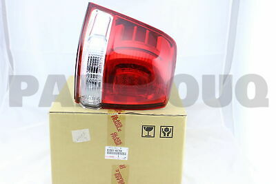 8156160750 Genuine Toyota LENS & BODY, REAR COMBINATION LAMP, LH 81561-60750