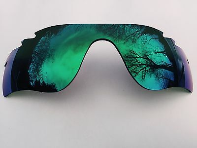 New Green Revo Mirrored Replacement Oakley Radarlock Path Lens & Pouch