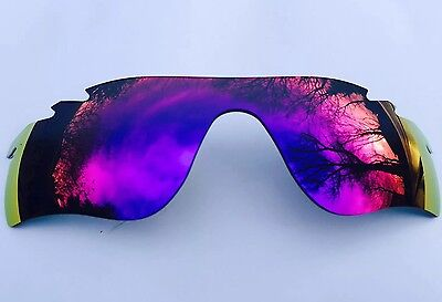 Polarized Red/blue Revo Mirrored Replacement Oakley Radarlock Path Lens & Pouch