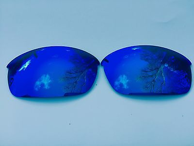 Engraved Polarized Ice Blue Mirrored Replacement Oakley Flak Jacket Lenses
