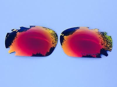 Engraved Polarized Fire Red Mirror Oakley Jawbone & Racing Jacket Lenses