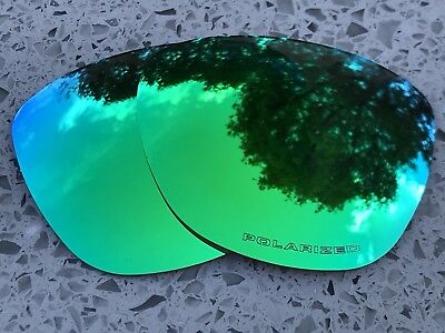 New Polarized Emerald Green Mirrored Replacement Oakley Frogskins Lenses