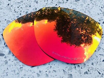 Etched Polarized Fire Red Mirrored Replacement Oakley Frogskins Lenses