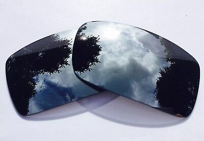 Polarized Chrome Silver Custom Mirrored Replacement Oakley Gascan Lenses