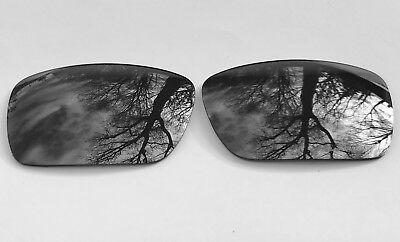 New Polarized Chrome Silver Mirrored Replacement Oakley Fuel Cell Lenses