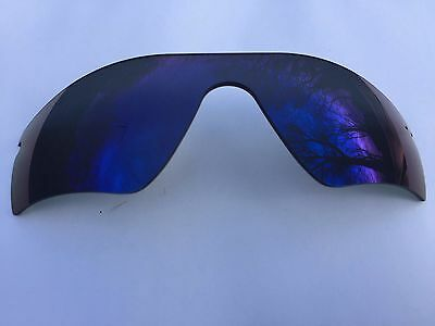 New Deep Blue Revo Mirrored Replacement Oakley Radar Path Lens & Pouch