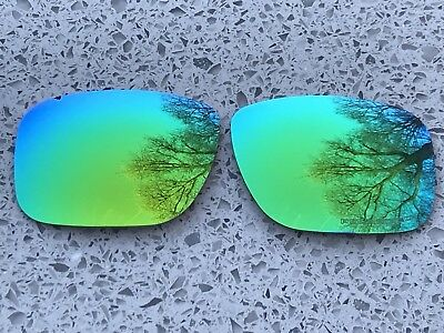 New Lime Green Polarised Mirrored Replacement Oakley Holbrook Lenses