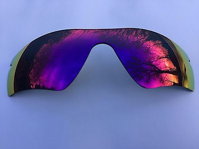 New Polarized Red/blue Revo Mirrored Replacement Oakley Radar Path Lens & Pouch