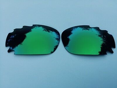 Replacement Emerald Green Mirrored Vented Oakley Jawbone & Racing Jacket Lenses