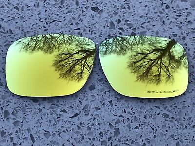 New Polarized 24K Gold Mirrored Replacement Oakley Holbrook Lenses