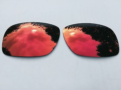 New Polarized Deep Fire Red Mirrored Replacement Oakley Holbrook Lenses