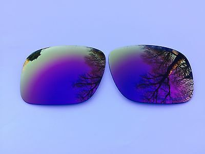 Etched Polarized Purple  Mirrored Replacement Oakley Holbrook Lenses