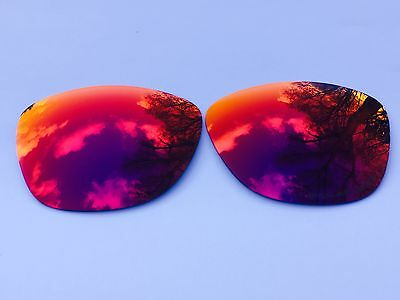 New Engraved Polarized Fire Red Revo Mirrored Replacement Oakley Jupiter Lenses