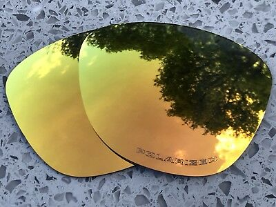 New Polarized Fire Orange Mirrored Replacement Oakley Frogskins Lenses