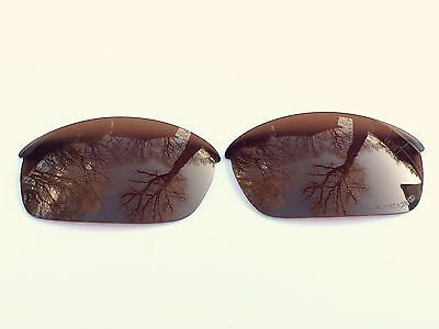 New Polarized Amber / Brown Replacement Oakley Flak Jacket Lenses