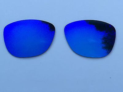 New Polarized Azure Blue Mirrored Replacement Oakley Frogskins Lenses