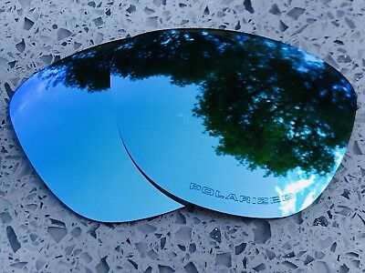 Etched Polarized Ice Blue Mirrored Replacement Oakley Frogskins Lenses