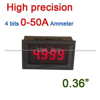 "0.36"" dc Digital Ammeter 0-50A LED AMP ampere Tester Meter Current 12v 24v car"
