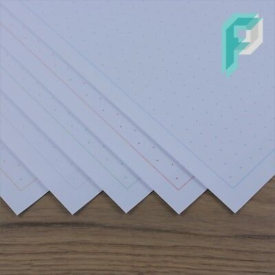 A4 ISOMETRIC GRAPH Paper Landscape 10mm 1cm Choice Of Colour 5 To